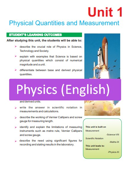 9th Class Physics Full Book PDF English Medium (Punjab Education)